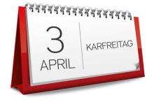 3 April 2015 Karfreitag Ostern Kalender