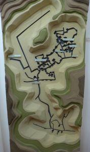 Grafik der unterirdischen Gänge des Höhlenklosters